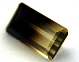 Gema Quartzo Bi Color Pedra Natural Montagem Joia Cod QB8198