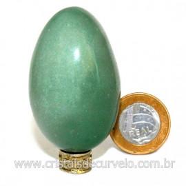 Ovo Aventurina Verde Pedra Quartzo Verde Natural Cod 127082