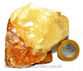 Calcita Mel Pedra Natural P/ Coleção e Esoterismo Cod 110321