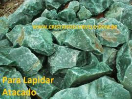 AVENTURINA VERDE Pedra Bruto Pra Lapidar Pacote Atacado 20 kg