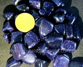 Pedra Estrela Pigmento Azul Pacotinho 100 gramas Pedra Rolada Boa Qualidade