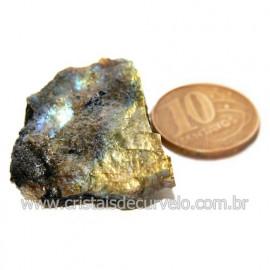 Labradorita Canadense Mineral Natural No Estojo Cod 123832