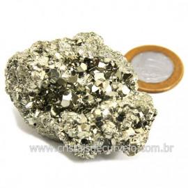 Pirita Peruana Pedra Extra Com Belos Cubo Mineral Cod 124223