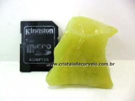 Calcedonia Verde Pedra Natural em Estado Bruto de Garimpo Para Colecionador Cod 29.3