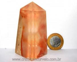 Obelisco Aragonita Vermelho Pedra Natural Mineral Cod OA5412