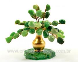 Arvore Da Felicidade Pedra Rolada Quartzo Verde REFF AJ3724