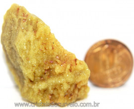 Mica Drusa Amarela Feldspato Pedra Bruta Natural Cod 111136