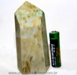 Ponta Nefrita Lapidado Pedra Natural de Garimpo Cod 101458