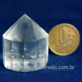 Voguel Cristal 01 Ponta Pedra Natural 12 Facetas Cod 123400