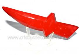 Adaga ou Athame Faca Pedra Natural Jaspe Vermelho Cod AF9539