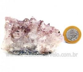 Drusa Ametista Pequena Pedra Natural Boa Cor Cod 127699