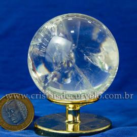 Bola de Cristal Pedra Extra Esfera Quartzo Transparente 112868
