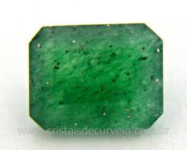 Gema Quartzo Verde Natural Quadrado Montagem Joia Ref GQ7076