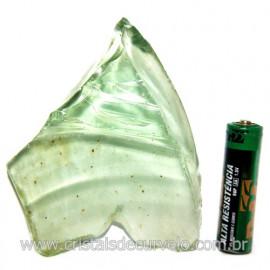 Obsidiana Verde Pedra Vulcanica Ideal P/ Coleçao Cod 119707