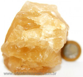 Calcita Mel Pedra Natural P/ Coleção e Esoterismo Cod 106626