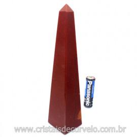 OBELISCO Quartzo Vermelho Pedra Natural Lapidação Manual 122702
