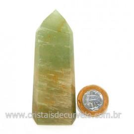 Ponta Pedra Onix Verde Lapidação Gerador Sextavado Cod 128690