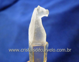 Cavalo Esculpido Artesanalmente na Pedra Bruto Natural Cristal Quartzo laser