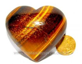 Coração Olho de Tigre Pedra Extra Origem Africa Cod CT1351