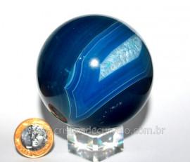 Esfera Agata Geodo Tamanho Medio Lapidado Manual Cod BG3874