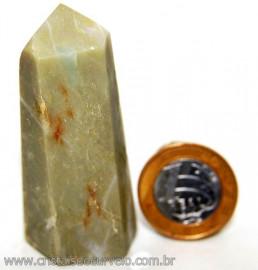 Ponta Nefrita Lapidado Pedra Natural de Garimpo Cod 101465