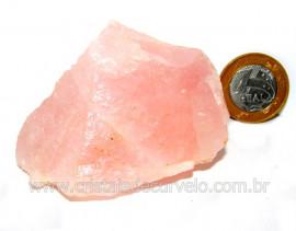 Quartzo Rosa Pedra Bruto Natural Para Colecionar Cod QR9757