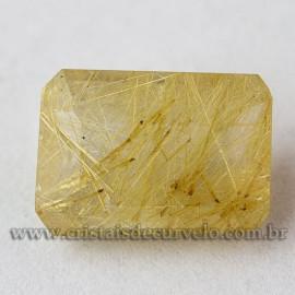 Rutilo Gema Baguette Natural Para Montar Prata e Ouro 112755