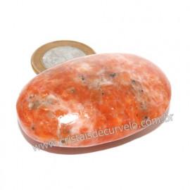 Sabonete Massageador Calcita Laranja Pedra Natural 121148
