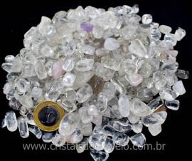 Cristal Pedra Rolado Pacote 1kg  Quartzo Hialino Comum Semi Transparente T Medio