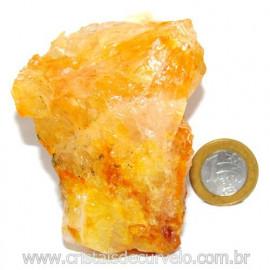 Hematoide Amarelo Pedra Bruto Quartzo Natural Cod 114648