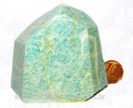 Peso de Papel Amazonita Verde Para Escritório Cod PP6675