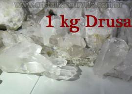 01 KG De Pequenas Drusas de Cristal Pontas Quartzo Comum ATACADO