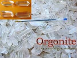 Kit Turbinado 1kg de Cristal Fino Para Orgonite + 4 Cristais Bi-Terminado de Quartzo