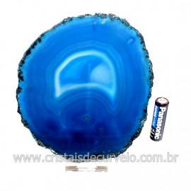 Chapa de Agata AzulPorta Frios Bandeja Pedra Natural 128758