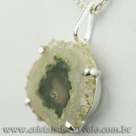 Pingente Flor de Ametista Pedra Natural Garra Prateado 120620
