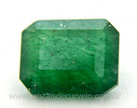 Gema Quartzo Verde Natural Quadrado Montagem Joia Ref GQ3414