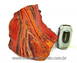 Jaspe Rajado Bruto Natural Pedra Para Lapidar Coleção ou Esoterismo Cod 1.398