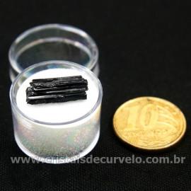 Turmalina Preta Canudo no Estojo Para Colecionar Cod 126939