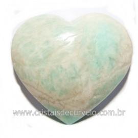 Coraçao Amazonita Verde Natural Ideal P/ Presente Cod 118252