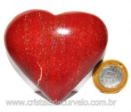 Coração Quartzo Vermelho Pedra Natural de Garimpo Cod 113967