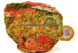 Unakita Pedra Natural De Garimpo Em Bruto Para Colecionador e Esoterismo Cod 326.1