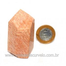 Ponta Amazonita Rosa Pedra Da Família Feldspato Cod 121438