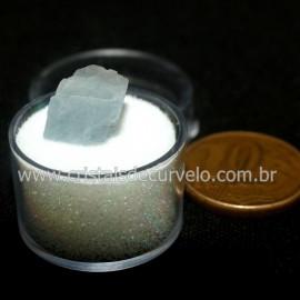 Calcita Azul do Mexico no Estojo Pedra Natural Cod 126639