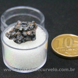 Obsidiana Flocos de Neve Pedra Natural Amostra Estojo Cod 126964