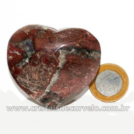 Coração Pedra Quartzo Jiboia Natural Lapidação manual Cod 126884