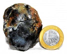 Ágata Negra Pedra Bruta Natural Para Colecionador Cod 104279