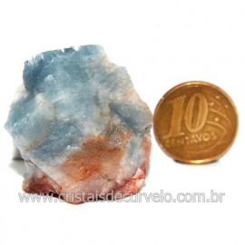 Calcita Azul Pedra Natural Ideal P/ Colecionador Cod 123733