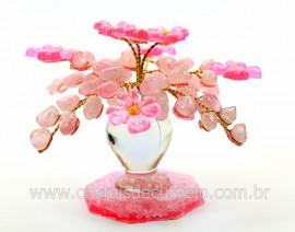 Arvore da Primavera Pedra Rolada Quartzo Rosa REFF AF5532