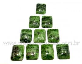 10 Retangulo Cabochao pra Pingente Pedra Dolomita Verde Lapidado Calibrado 15 x 20 MM