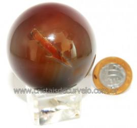 Esfera Agata Geodo Tamanho Pequeno Lapidado Manual Cod 109363